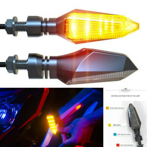 Paar 12V Motorcycle Amber LED Indicator Signal Light for Kawasaki Honda Suzuki