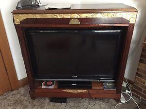 French Art Deco Bookcase TV Cabinet gilt mahogany