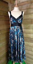 Monsoon Stunning Stylish Silk Empire Line Floral Party Maxi Dress Medium - 10 UK