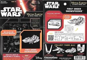 Metal Earth Star Wars First Order Snowspeeder 3D Model Kit FREE SHIPPING