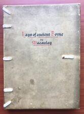 Lays Of Ancient Rome by Thomas Babington Macaulay, Leather 1851
