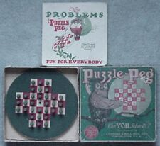 1924 PUZZLE PEG GAME (LUBBERS & BELL MFG CO, CLINTON, IOWA
