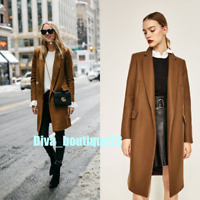 Zara Woman BNWT Blogger's Toffee Wool Coat Size L Free P&P RRP£130