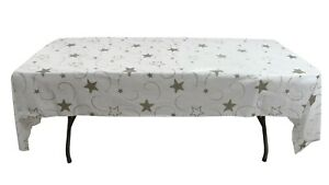 """12 Plastic Party Table Cover-54"""" x 108""""- Disposable Tablecloth- Star- Graduation"""