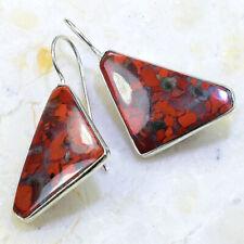 """1 1/2"""" X72439 Red Rainbow Jasper Earrings"""