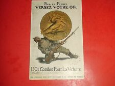 EL694 Vintage Postcard Soldier Bayonet 1915 Rooster Coin France French
