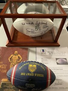 Football Autographed By NFL Legends including Manning Family. One Of A Kind Item
