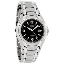 Citizen Eco-Drive Mens 180PR Black Dial Titanium Watch BM6060-57F