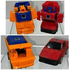 Vintage 1986 Hasbro Transformers G1 Throttlebots Chase & Wideload Action Figures