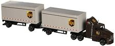 UPS Die Cast Metal Tractor Trailers Truck Toys Collectible Gift Souvenir, Brown