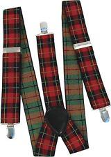 NUOVO Tartan Punk Goth scozzese Geek Bretelle FANCY DRESS