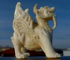 Chinesisches Fabelwesen Pixiu (oder Pi Yao) aus Horn ( Elchgeweih ) geschnitzt