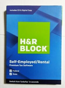 H&R Block 1536600-19 Premium Tax Software for Windows/Mac
