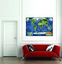 Satellite Map World Giant Poster Art Print