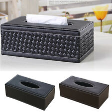 Home Luxury Faux Leather Household Car Tissue Box Cover Paper Napkin Holder Case