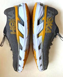 Hoka One One Elevon Running Shoes Men's 13 Comfort Gray Yellow CLEAN Very Good