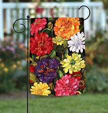 Toland Zippy Zinnias 12.5 x 18 Colorful Spring Flower Floral Garden Flag