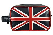 Leather Cosmetic Makeup Toiletry Travel Wash Bag Holder Pouch Kit Union Jack