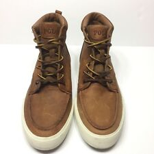 NEW Polo Ralph Lauren Men's Brown Leather Boots Size 8.5