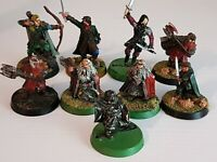 Warhammer Lord of the Rings Middle Earth Heroes Metal 9 Figures Painted