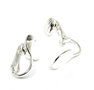 silver plated clip on earclip findings 10mm pad
