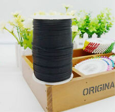 5yd 2mm Satin Rattail Trim Black Macrame Beading Nylon Necklace DIY String Cord