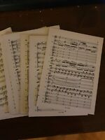 MINIATURE VINTAGE DOUBLE SIDED SHEET MUSIC PACKS, CRAFT,DECOUPAGE,ART,CARDS,