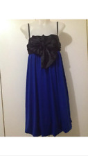 Evening formal dress size 10-12 black bow top and blue bottom rrp $99