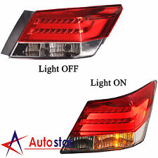 New 2pcs LED Brake Rear Tail Lights Set For 2008-2012 Honda Accord 4 Door Sedan