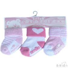 SOFT TOUCH 1 Pack Triple paires de chaussettes rose  imprimées fille 3 à 12 mois