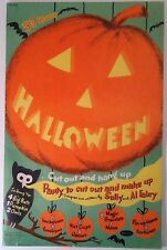 Vintage 1953 HALLOWEEN Whitman Party Book- Black Cat- Witches- Vibrant Colors
