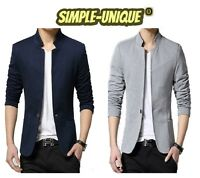 Men's Slim Fit Stylish Formal Casual One Button Suit Blazers Coat Jacket 1367