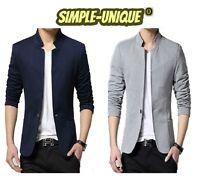 Mens Adults Fashion Design Smart Slim-Fit Blazer Jacket Coat ( 1367 )