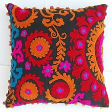 Indian Handmade Suzani Cushion Covers Pillow Cover Decorative Home Cushion Cover