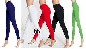 Ladies/Girls Full Length Warm Thick Cotton Leggings Winter Style All Sizes 8 -24
