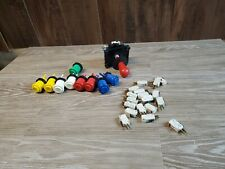 Lot Of Arcade Buttons, Microswitches And Joystick