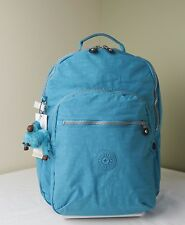 Kipling BP3020 Cool Blue Nylon Seoul Backpack with Laptop Protection
