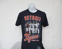 Detroit Tigers MLB Baseball & Kiss Dressed To Kill T-Shirt Adult Blue  M - 2XL