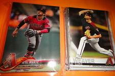 DIAMONDBACKS  2 COMPLETE TEAM SETS, 2018 & 2019 TOPPS BASEBALL, ALL THREE SERIES