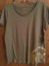 Women's Michael Kors Shirt Safari Green Size S and Size L
