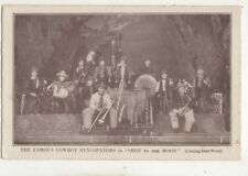 The Famous Cowboy Syncopators Shot To The Moon Vintage Postcard Music 685b