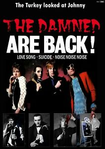 """Reproduction Alternate """"The Damned - Are Back!"""" Poster, Punk, Size A2"""