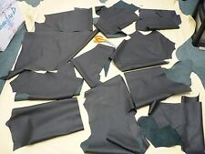 20 SQ FT GENUINE BLACK PERFORATED GRAIN REAL LEATHER HIDE OFFCUTS TOP QUALITY