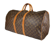 LOUIS VUITTON Keepall 55 Monogram Canvas Leather Boston Bag LH3562