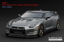 LIMITED EDITION LHD! HPI #8321 Nissan R35 GT-R PREMIUM Gun Metallic 1/43 Model