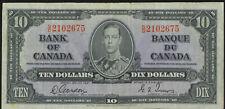 Bank of Canada 1937 $10 Ten Dollars Gordon-Towers S/D Prefix King George VI VF