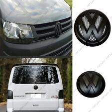 VW Transporter T5 Arrière Set Paire Noir mat Badge Logo Coffre Arrière Matte Emblème