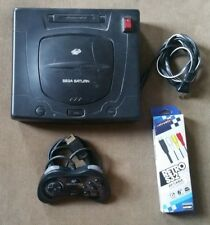 Sega Saturn Black Round Buttons US Version Mod Modded console