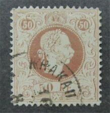 nystamps Austria Stamp # 40b Used $190