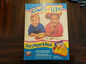 COMES TO LIFE STORY PLAYER AND BOOK VINTAGE 1993 TOY NIB MICROPHONOGRAPH RARE